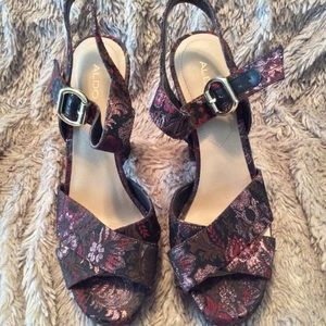 Aldo ornate fabric platforms gently used